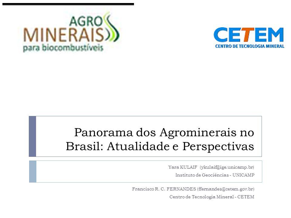 Panorama dos Agrominerais no Brasil: Atualidade e Perspectivas