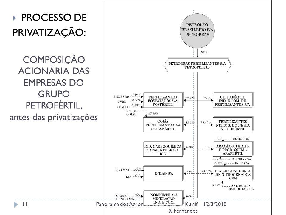 PROCESSO DE PRIVATIZAÇÃO: