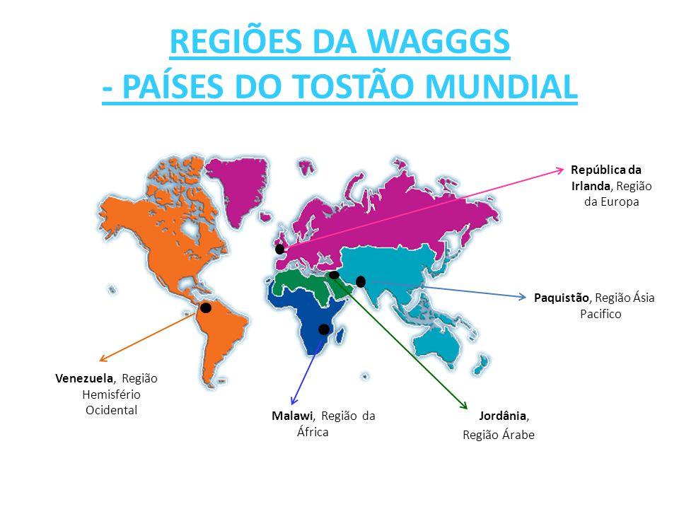 REGIÕES DA WAGGGS - PAÍSES DO TOSTÃO MUNDIAL