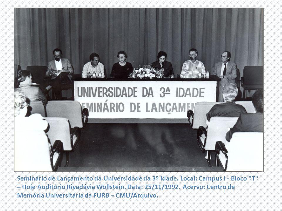 Seminário de Lançamento da Universidade da 3º Idade