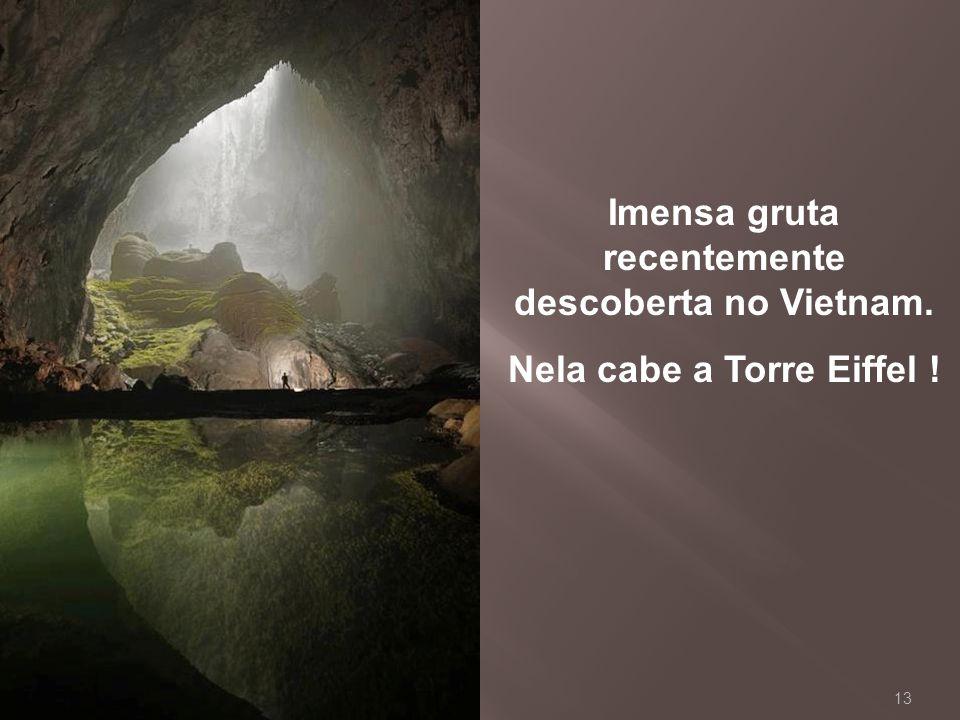 Imensa gruta recentemente descoberta no Vietnam.