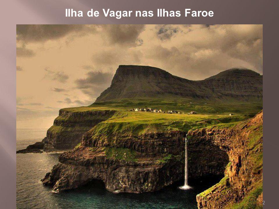 Ilha de Vagar nas Ilhas Faroe