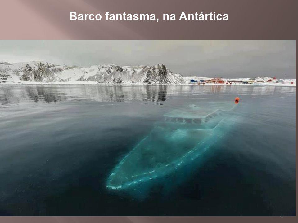 Barco fantasma, na Antártica