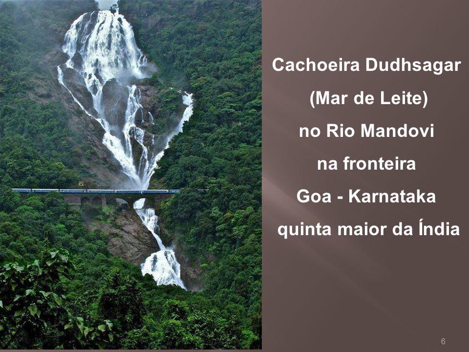 Cachoeira Dudhsagar (Mar de Leite) no Rio Mandovi.