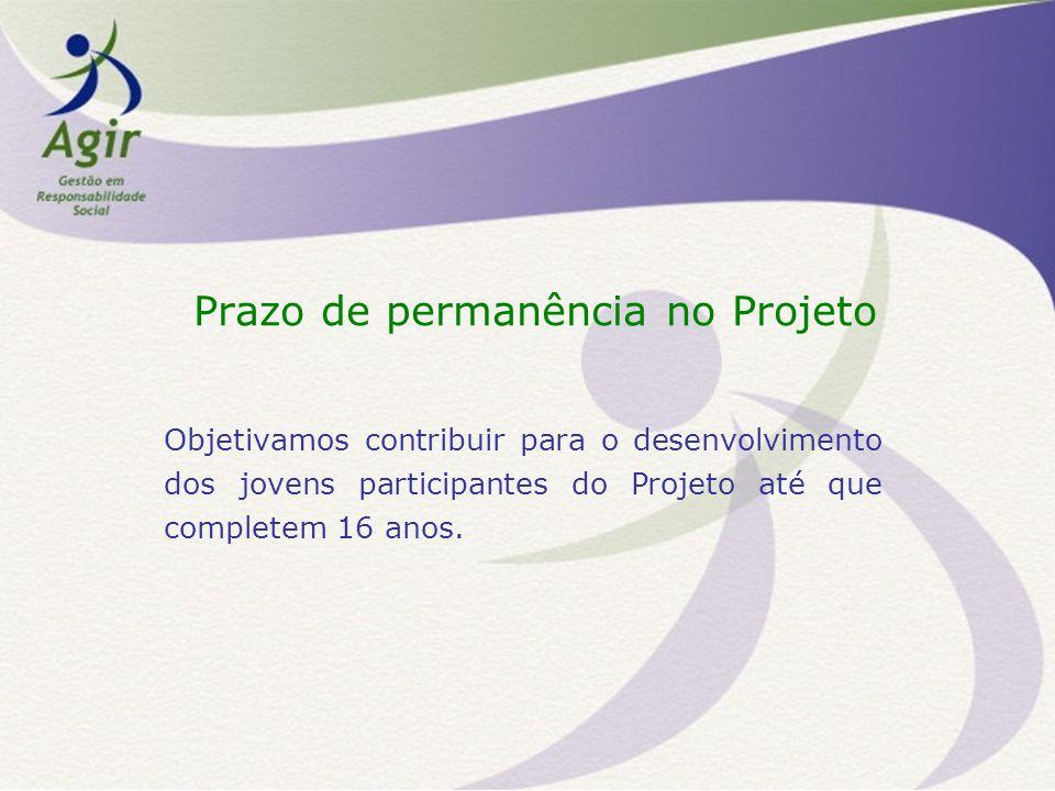 Prazo de permanência no Projeto