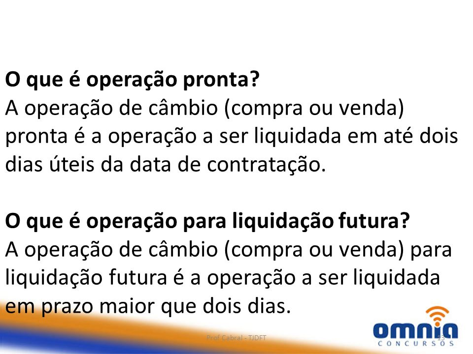 O que é operação para liquidação futura