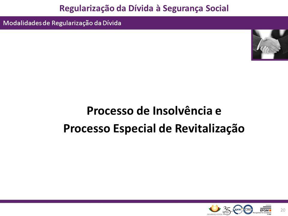 Processo de Insolvência e Processo Especial de Revitalização