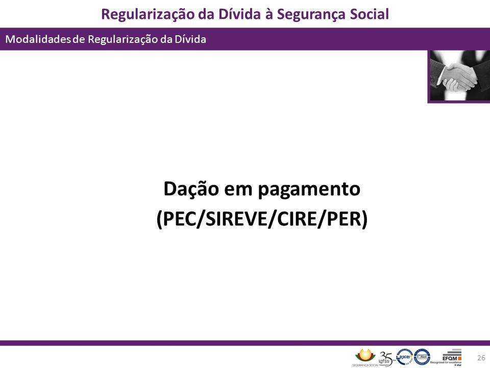 (PEC/SIREVE/CIRE/PER)