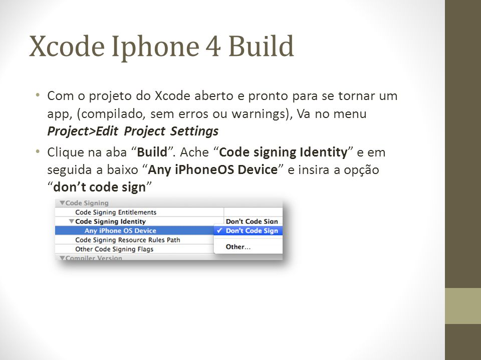 Xcode Iphone 4 Build