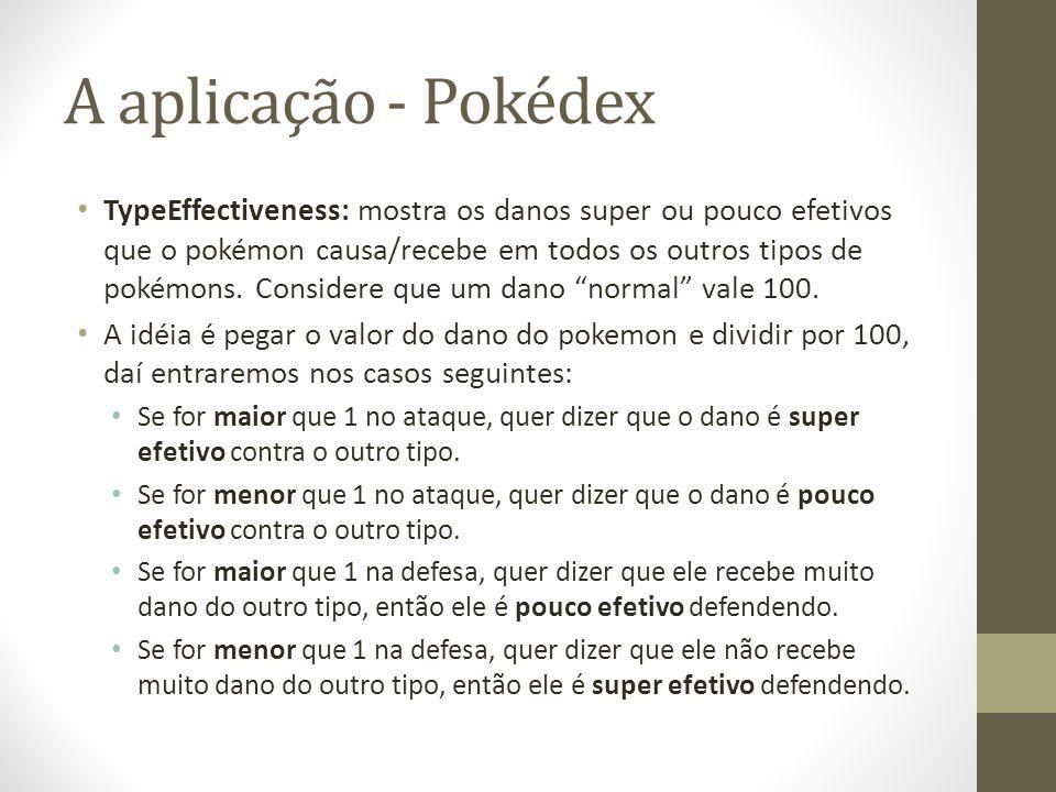 A aplicação - Pokédex