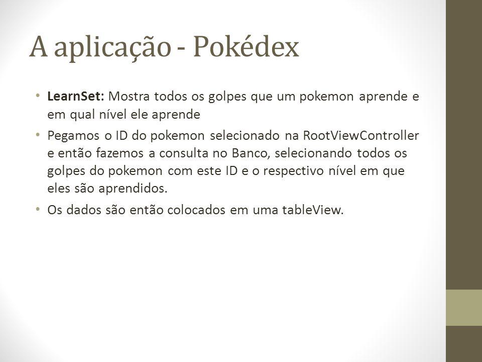 A aplicação - Pokédex LearnSet: Mostra todos os golpes que um pokemon aprende e em qual nível ele aprende.