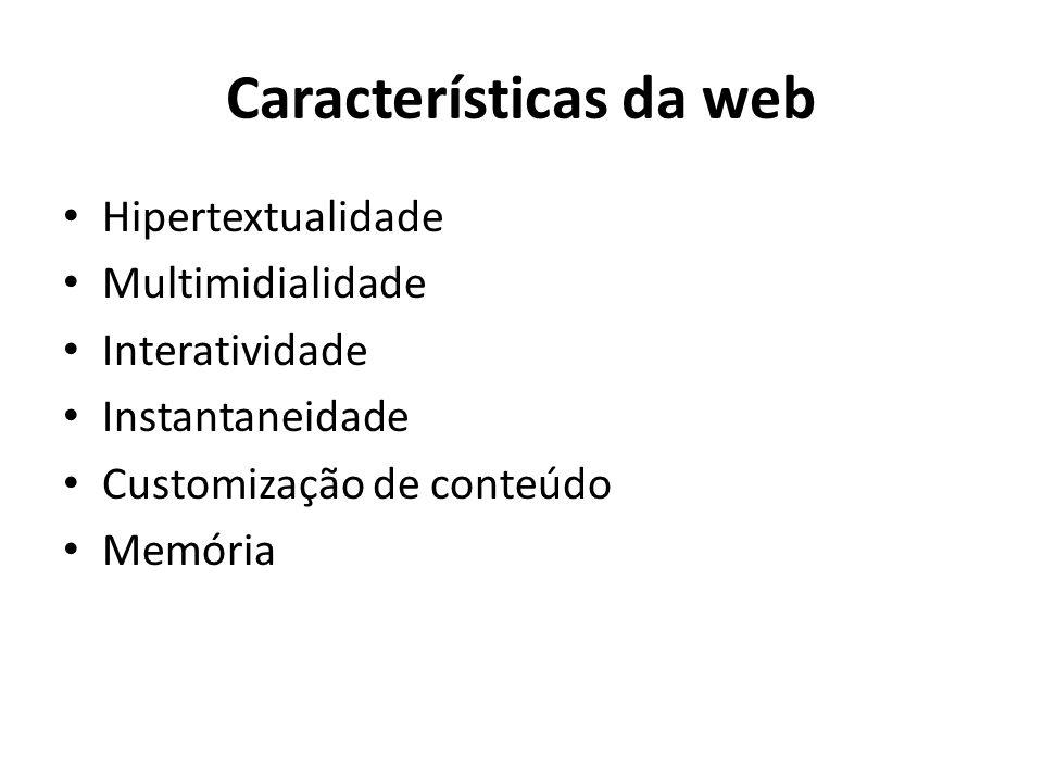 Características da web
