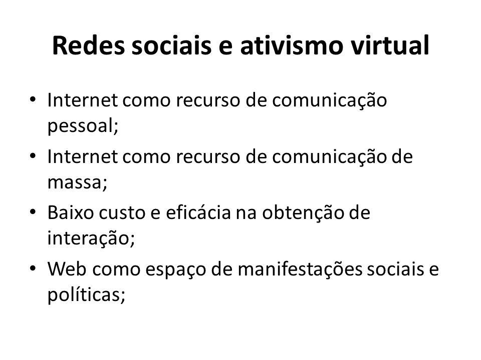 Redes sociais e ativismo virtual