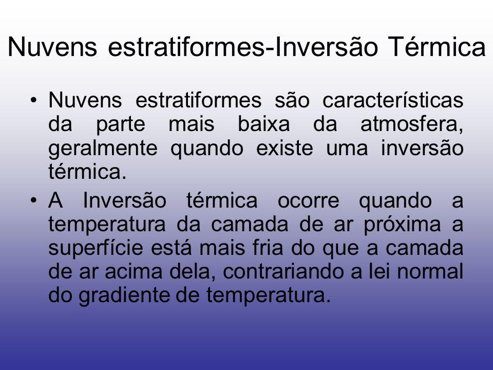 Nuvens estratiformes-Inversão Térmica