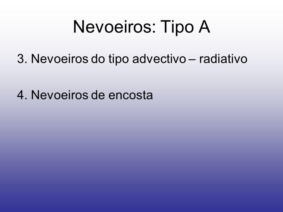 Nevoeiros: Tipo A 3. Nevoeiros do tipo advectivo – radiativo