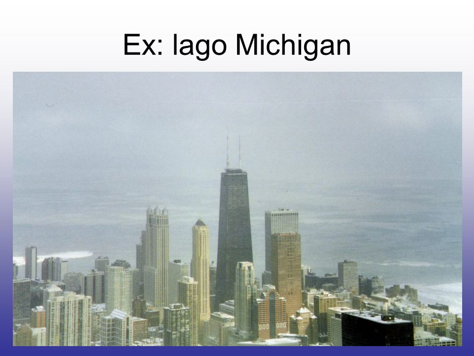 Ex: lago Michigan