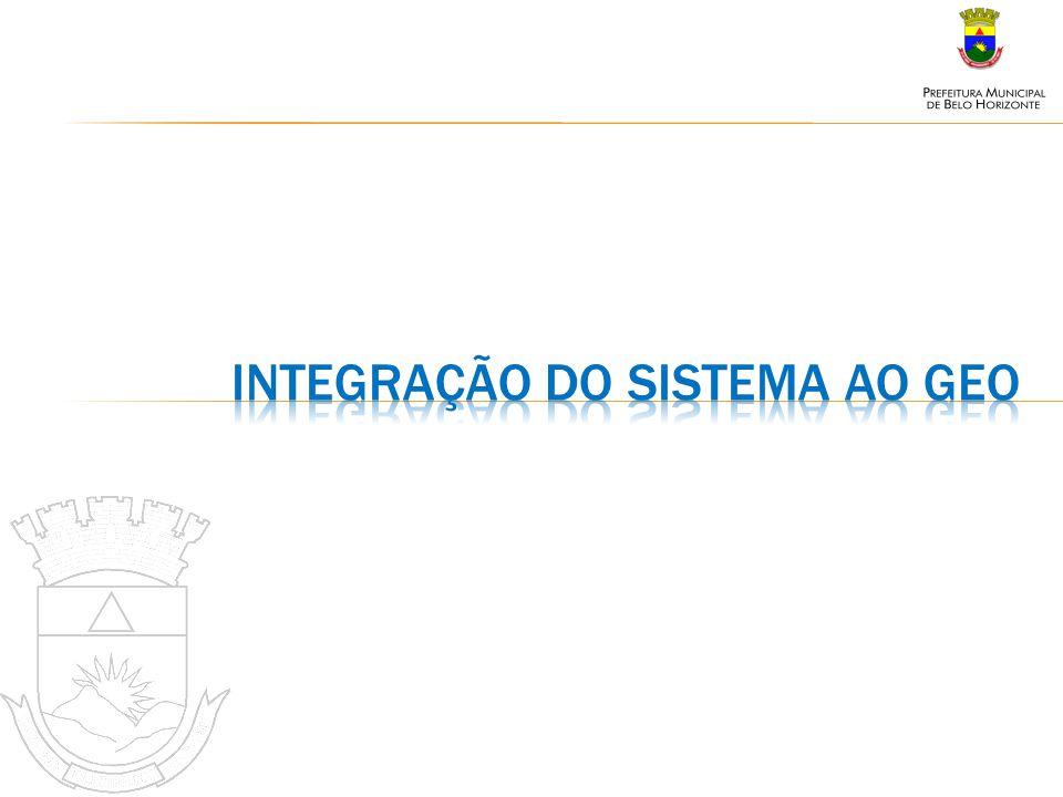 Integração do sistema ao geo