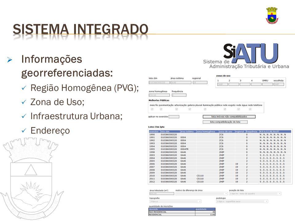 Sistema integrado Informações georreferenciadas: