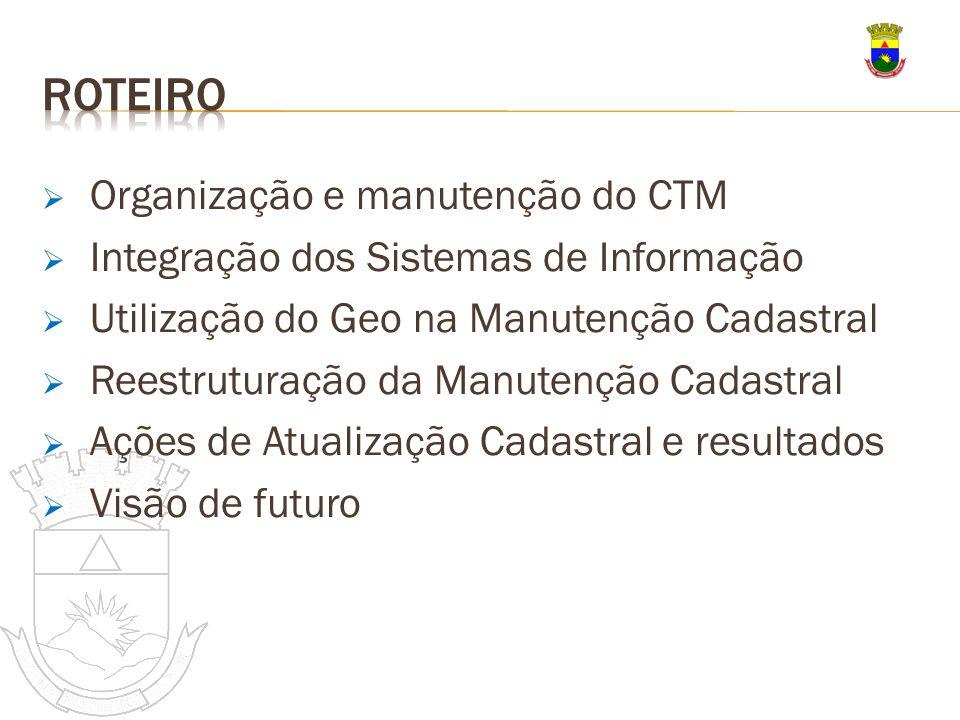 Roteiro Organização e manutenção do CTM