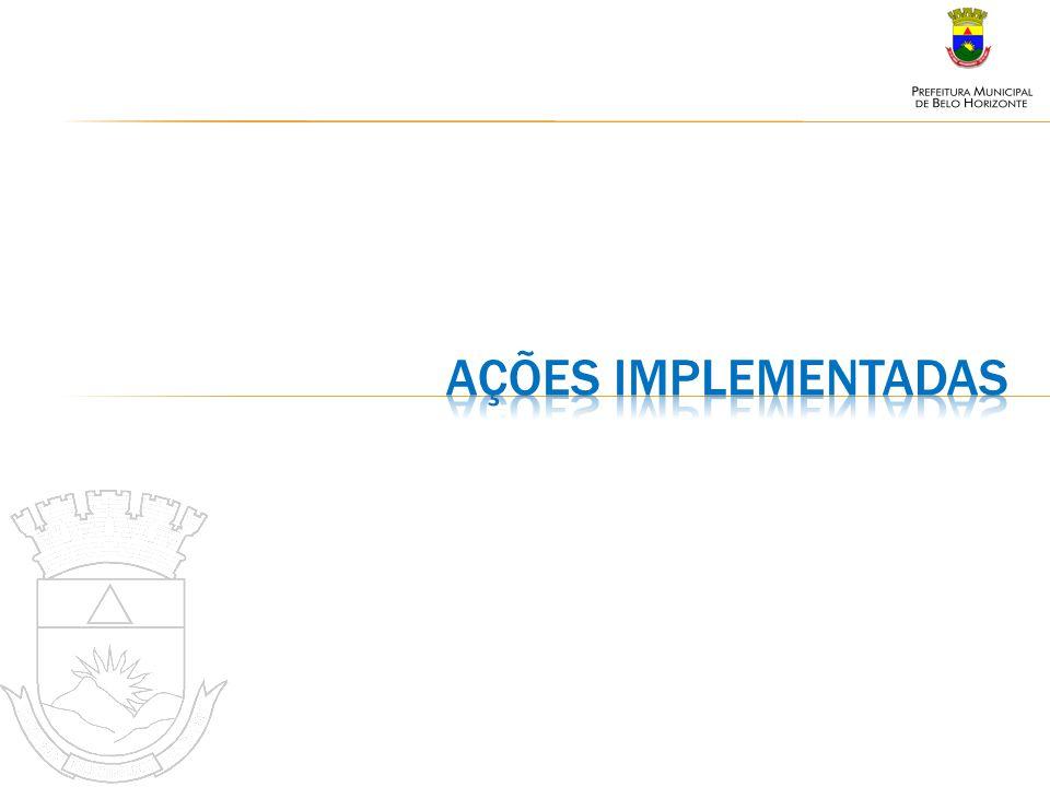 Ações implementadas