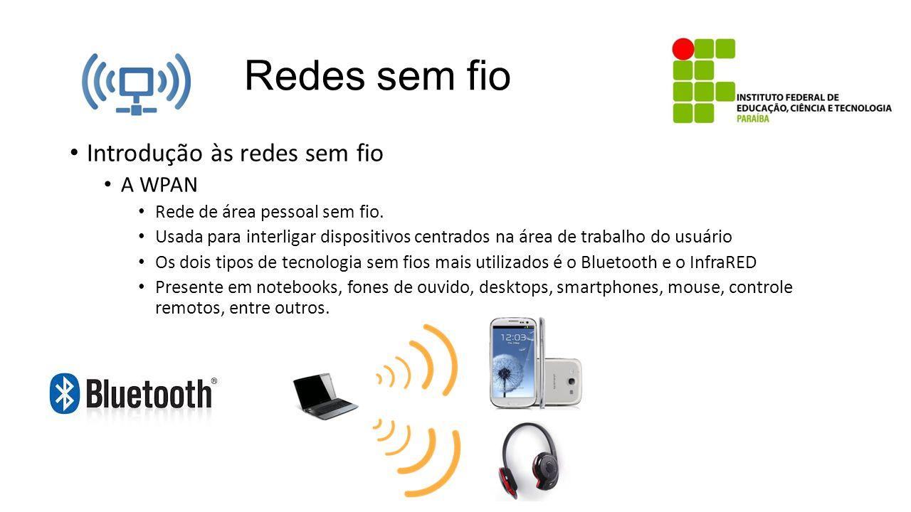 Redes sem fio Introdução às redes sem fio A WPAN