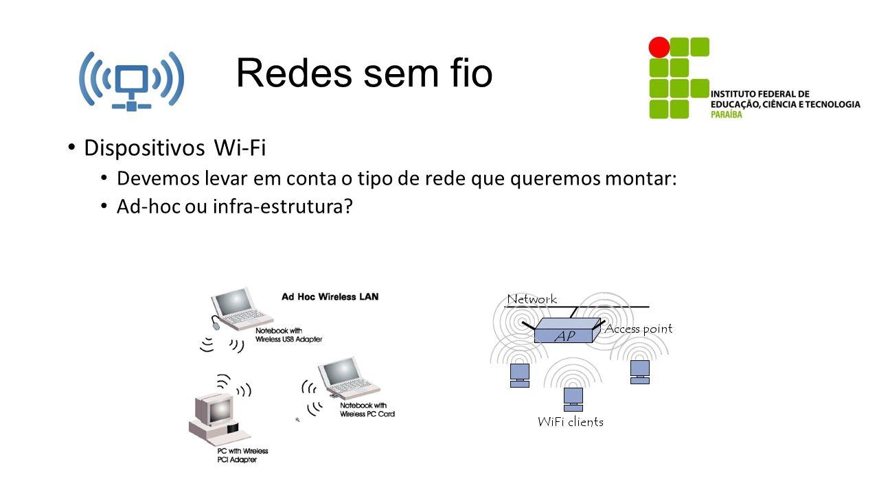 Redes sem fio Dispositivos Wi-Fi
