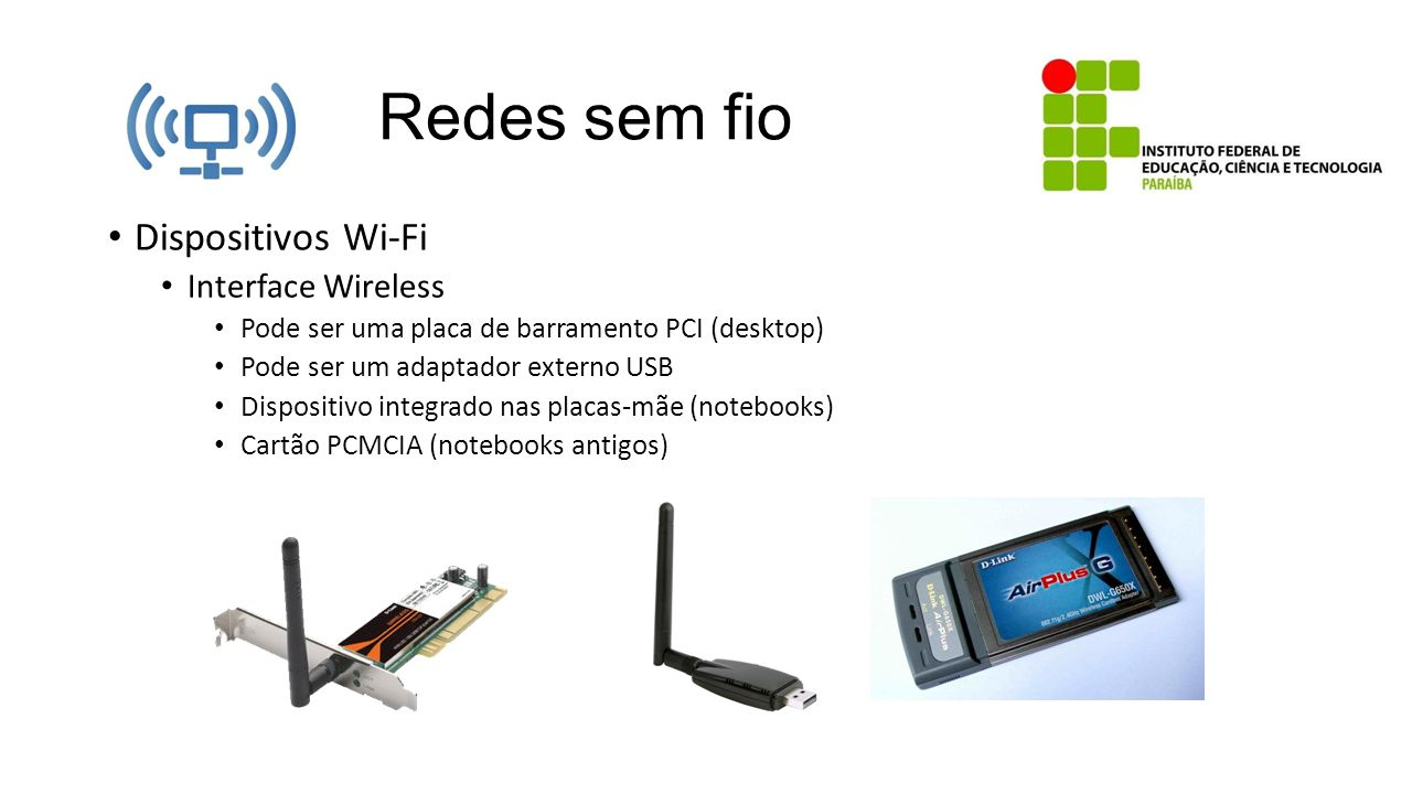 Redes sem fio Dispositivos Wi-Fi Interface Wireless