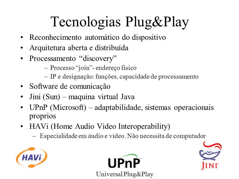 Tecnologias Plug&Play