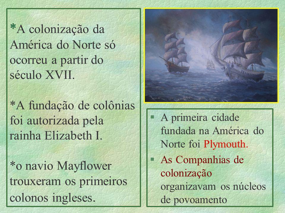 A colonização da América do Norte só ocorreu a partir do século XVII