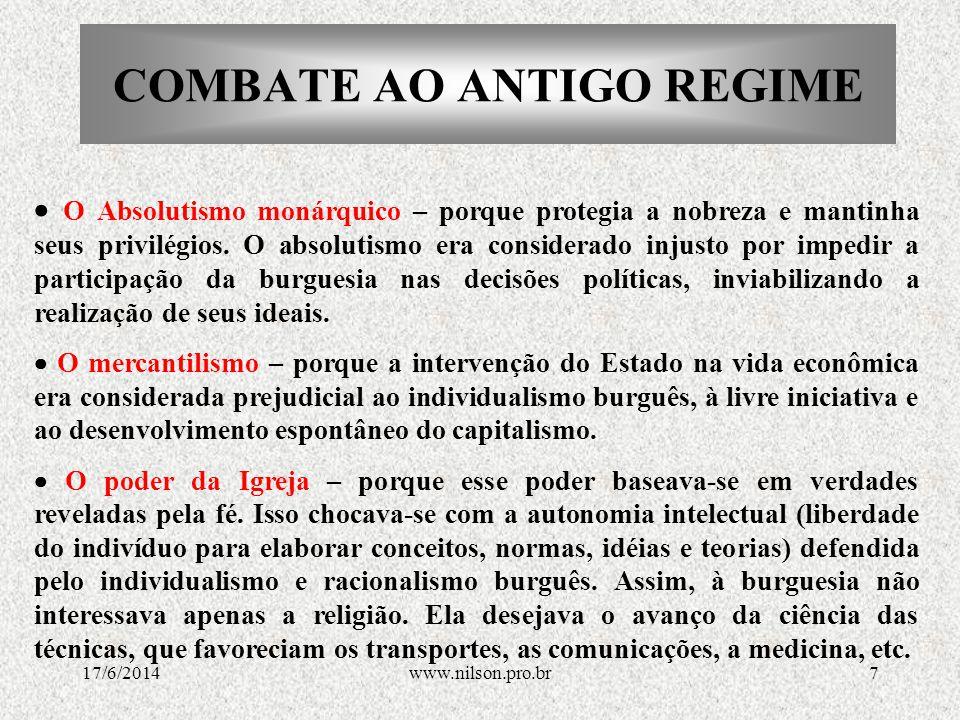 COMBATE AO ANTIGO REGIME