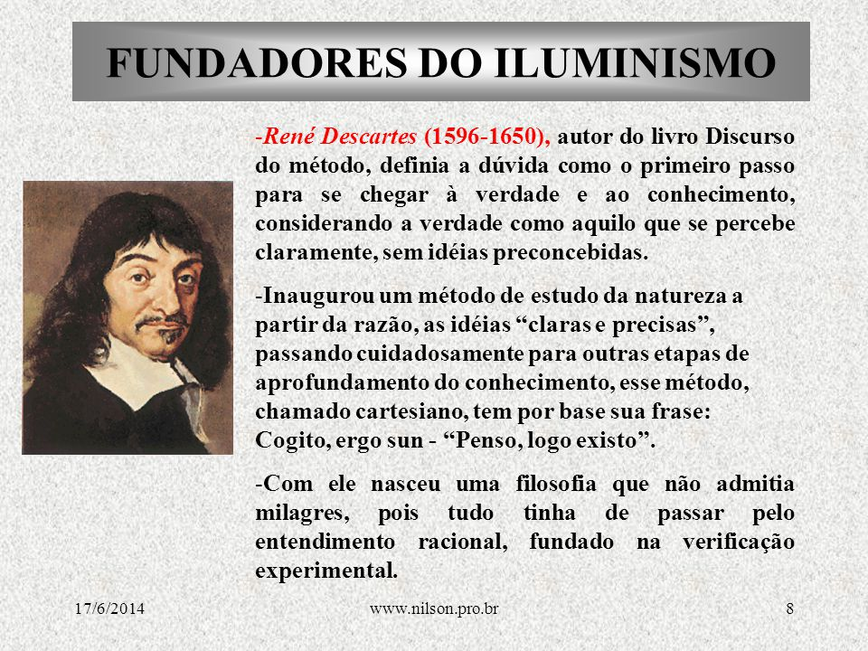 FUNDADORES DO ILUMINISMO