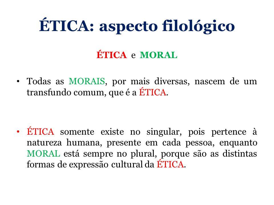 ÉTICA: aspecto filológico