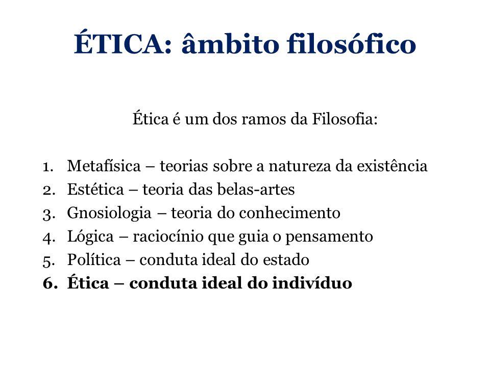ÉTICA: âmbito filosófico
