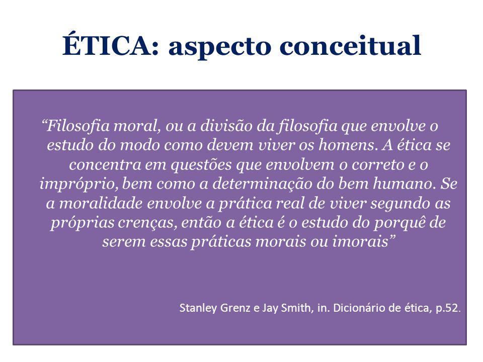 ÉTICA: aspecto conceitual