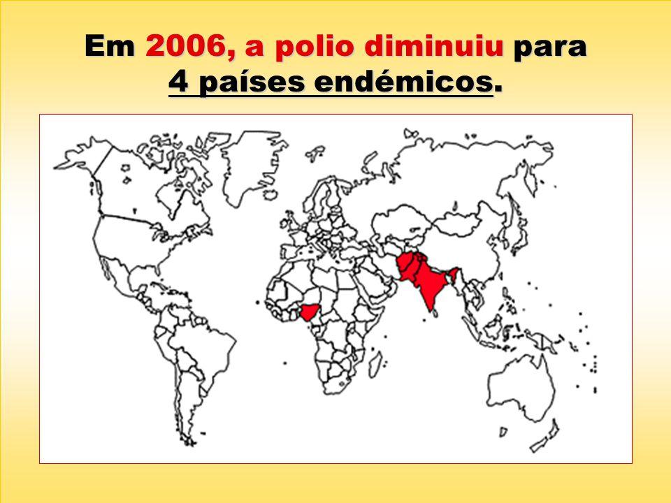 Em 2006, a polio diminuiu para