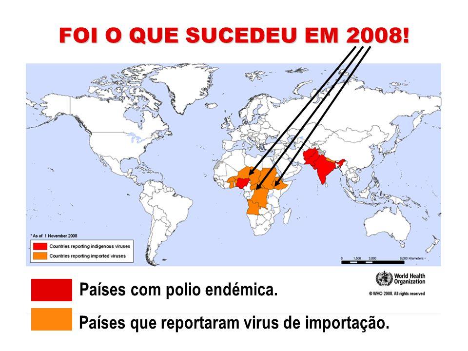 Países que reportaram virus de importação.