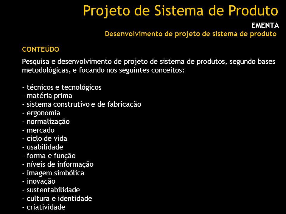 Projeto de Sistema de Produto