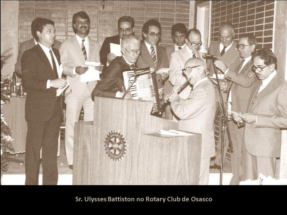 Sr. Ulysses Battiston no Rotary Club de Osasco