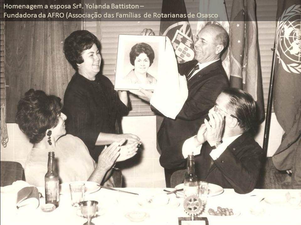 Homenagem a esposa Srª. Yolanda Battiston –