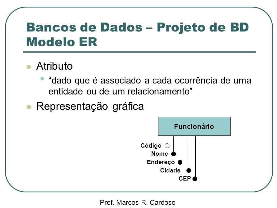 Bancos de Dados – Projeto de BD Modelo ER