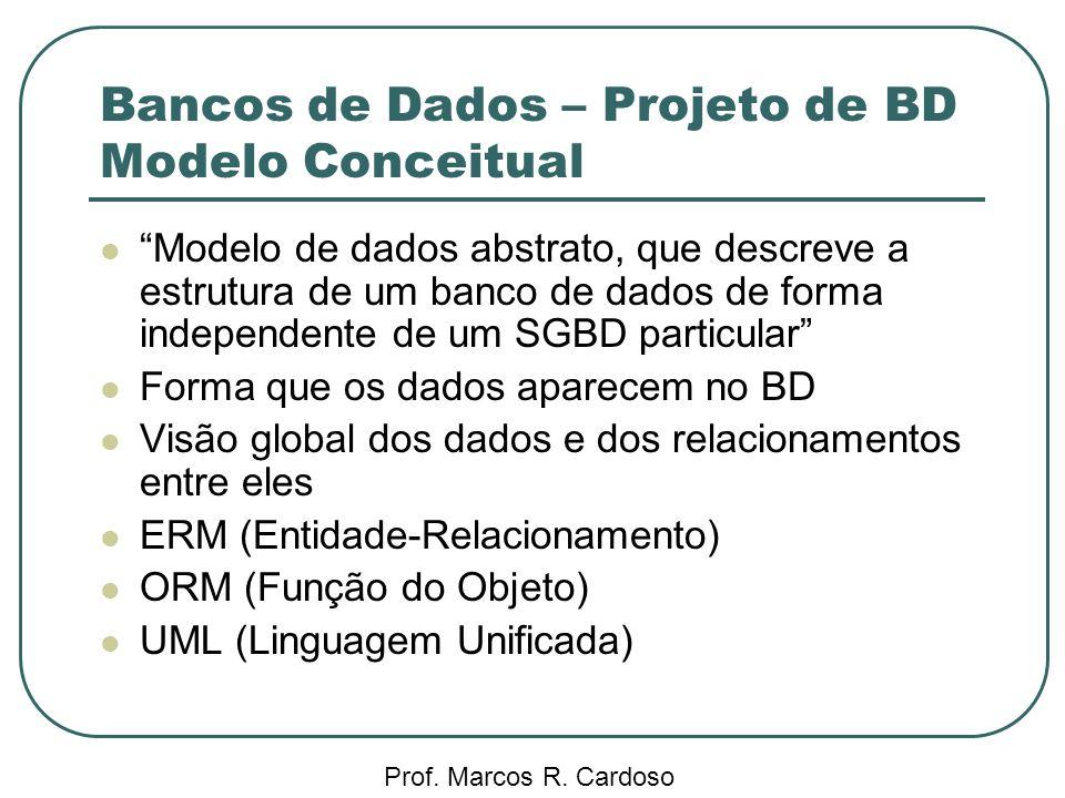 Bancos de Dados – Projeto de BD Modelo Conceitual
