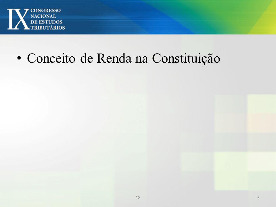 Conceito de Renda na Constituição