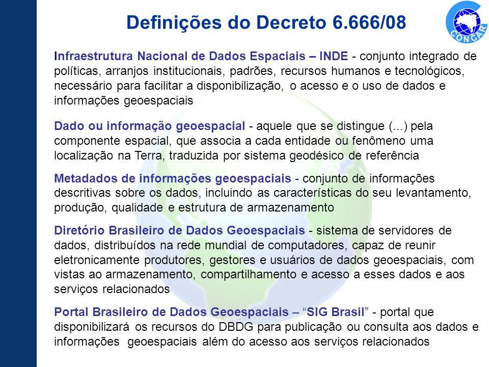 Definições do Decreto 6.666/08