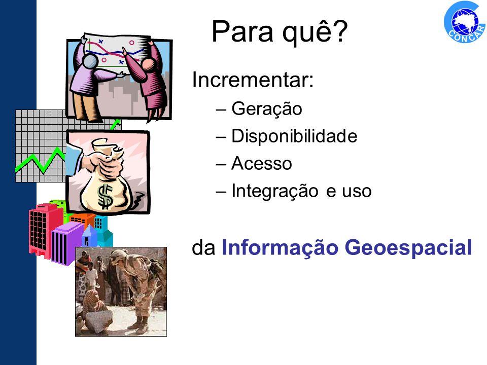 Para quê Incrementar: da Informação Geoespacial Geração