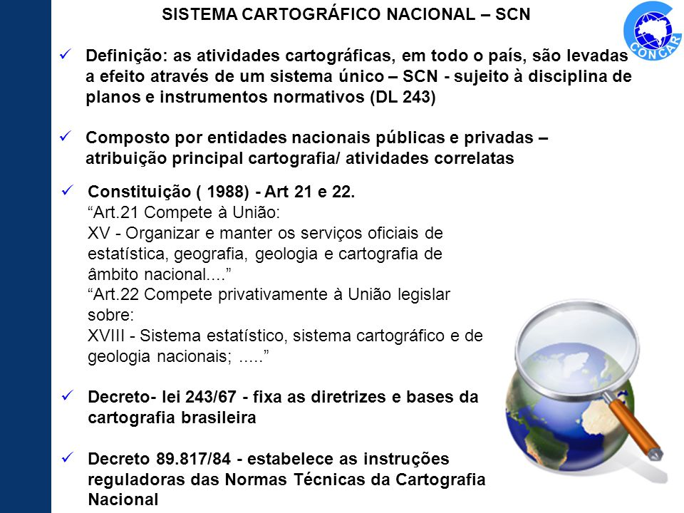 SISTEMA CARTOGRÁFICO NACIONAL – SCN