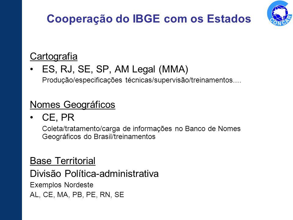 Cooperação do IBGE com os Estados