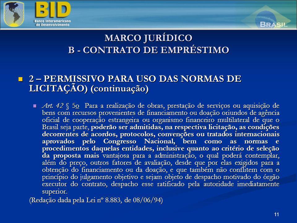 MARCO JURÍDICO B - CONTRATO DE EMPRÉSTIMO