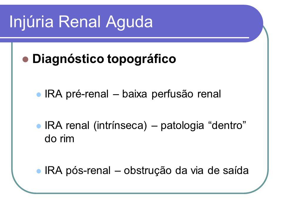 Injúria Renal Aguda Diagnóstico topográfico