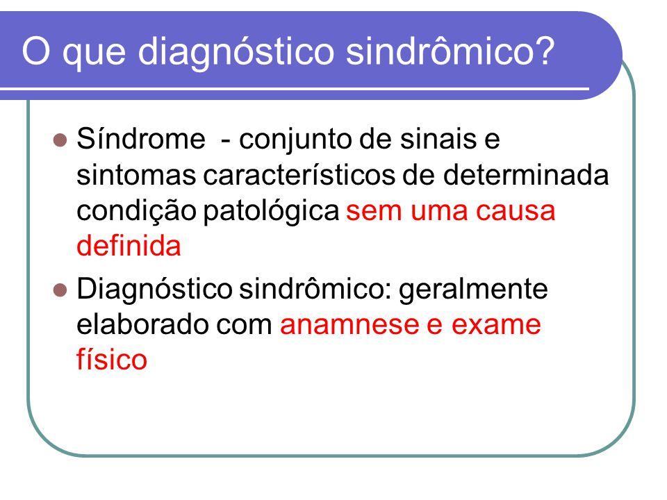 O que diagnóstico sindrômico