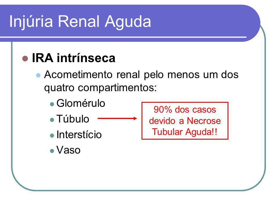 90% dos casos devido a Necrose Tubular Aguda!!